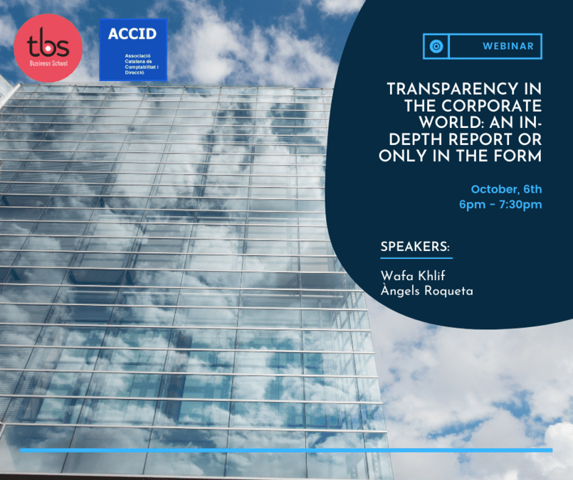 BCN Transparency in the corporate world an in-depth report or only in the form