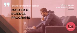 TBS MSc programs Online information session November 2020 highlight