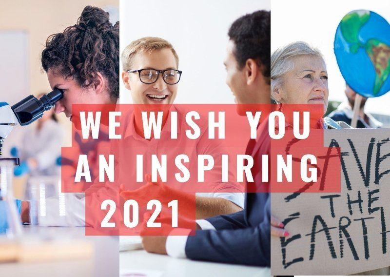 we wish you an inspiring 2021